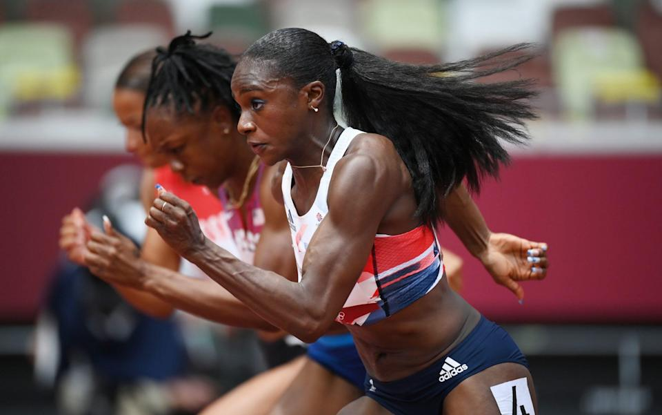 Dina Asher-Smith on the track - GETTY