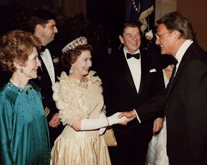 queen elizabeth with billy graham