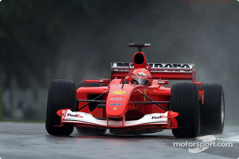 "Michael Schumacher en la práctica matutina<span class=""copyright"">Ferrari Media Center</span>"
