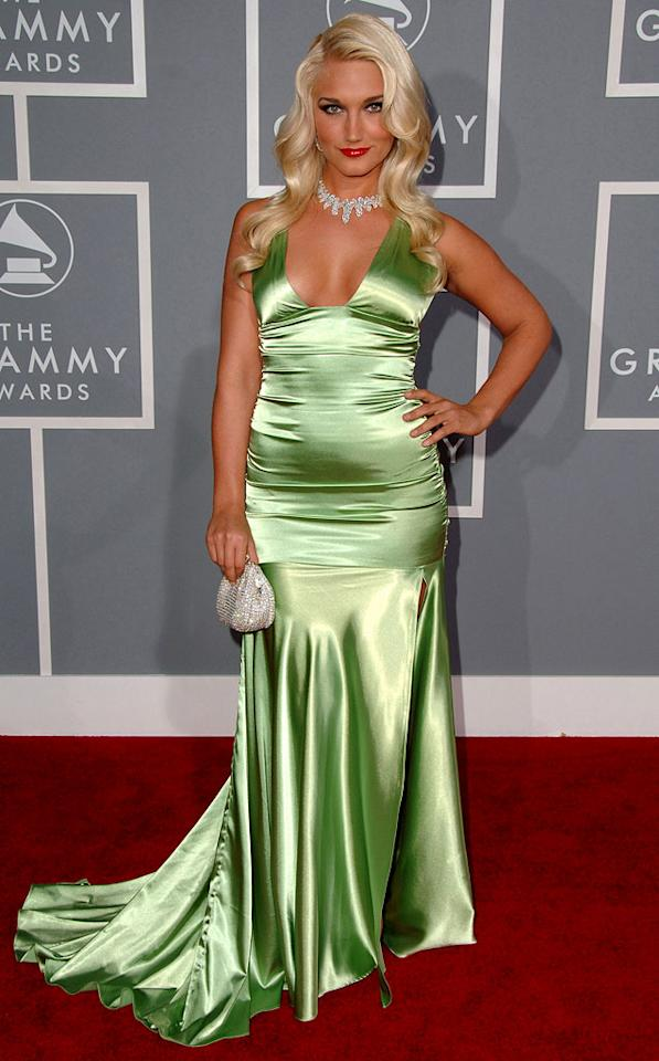 Brooke Hogan at The 49th Annual Grammy Awards.