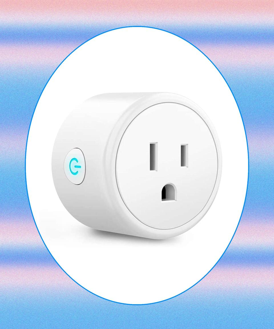 """<h2>WiFi Smart Plug<br></h2>For those who like the idea of having total control, buy some smart outlets in bulk. Amazon's WiFi-enabled version will allow you to monitor any and all plugged-in appliances (think: hair curlers and living room lamps) through your Alexa or Google Assistant — or you can simply set each outlet on its own timer. <br><br><strong>Aoycocr</strong> WiFi Smart Plug, $, available at <a href=""""https://www.amazon.com/WiFi-Smart-Plug-Outlets-Function/dp/B07Q1L6311/ref=asc_df_B07Q1L6311/?tag=hyprod-20&linkCode=df0&hvadid=343187910376&hvpos=&hvnetw=g&hvrand=4436954471742752550&hvpone=&hvptwo=&hvqmt=&hvdev=c&hvdvcmdl=&hvlocint=&hvlocphy=1022762&hvtargid=pla-724128136006&psc=1&tag=&ref=&adgrpid=69721953515&hvpone=&hvptwo=&hvadid=343187910376&hvpos=&hvnetw=g&hvrand=4436954471742752550&hvqmt=&hvdev=c&hvdvcmdl=&hvlocint=&hvlocphy=1022762&hvtargid=pla-724128136006"""" rel=""""nofollow noopener"""" target=""""_blank"""" data-ylk=""""slk:Amazon"""" class=""""link rapid-noclick-resp"""">Amazon</a>"""