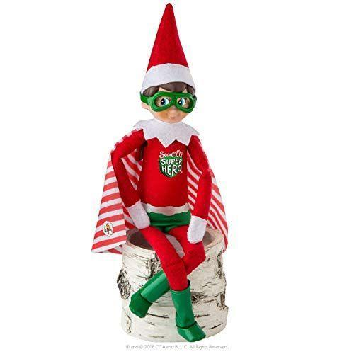 """<p><strong>The Elf on the Shelf</strong></p><p>amazon.com</p><p><a href=""""https://www.amazon.com/dp/B06ZXYW4B4?tag=syn-yahoo-20&ascsubtag=%5Bartid%7C10055.g.3033%5Bsrc%7Cyahoo-us"""" rel=""""nofollow noopener"""" target=""""_blank"""" data-ylk=""""slk:SHOP NOW"""" class=""""link rapid-noclick-resp"""">SHOP NOW</a></p><p>Whether you stage him flying through the air or using his super strength, there's so much you can do with this elf superhero costume.</p>"""