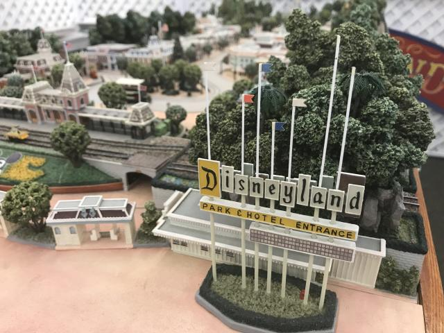 A collection of rare Disneyland memorabilia is going up for auction and includes this scale replica of the park. (Photo: Yahoo Entertainment)