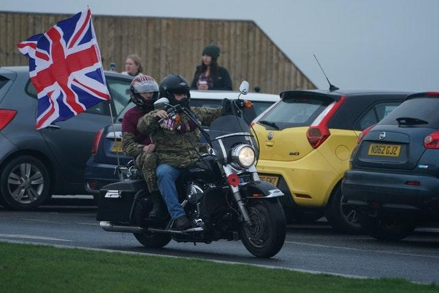 Bikers fly the flag at Seaham