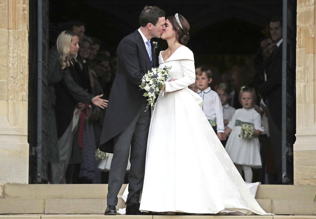 Princess Eugenie of York, first cousin of Prince William and Prince Harry, wed her boyfriend of seven years Jack Brooksbank on October 12, 2018 at St. George's Chapel, Windsor Castle. Her sister Princess Beatrice will soon have a royal wedding of her own as she marries Edoardo Mapelli Mozzi on May 29 of this year.