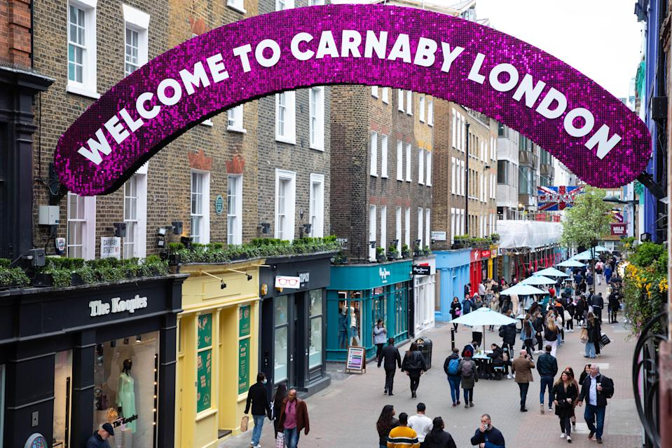 Landlord Shaftesbury owns properties on Carnaby Street (PA)