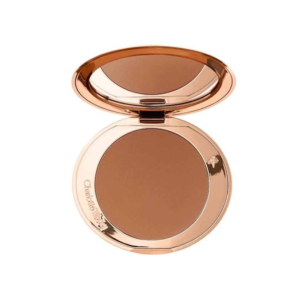 "<p>""Dealing with texture on my cheeks these past few months has made working with powder products a challenge. The formula of Charlotte Tilbury's Airbrush Matte Bronzer doesn't cling on to dry patches, and I can still achieve a diffused bronzed look. <a href=""https://www.allure.com/gallery/best-bronzers-for-every-skin-tone?mbid=synd_yahoo_rss"" rel=""nofollow noopener"" target=""_blank"" data-ylk=""slk:Bronzers"" class=""link rapid-noclick-resp"">Bronzers</a> can quickly look red on me, so neutral and golden tones like those found in the Airbrush Matte Bronzer are my favorite and much more flattering. I also love how big and luxe the packaging is — the mirror is a generous size, and you can buy refill pans."" <em>— Kat Suico, assistant beauty editor</em></p> <p><strong>$55</strong> (<a href=""https://shop-links.co/1715698760929652070"" rel=""nofollow noopener"" target=""_blank"" data-ylk=""slk:Shop Now"" class=""link rapid-noclick-resp"">Shop Now</a>)</p>"