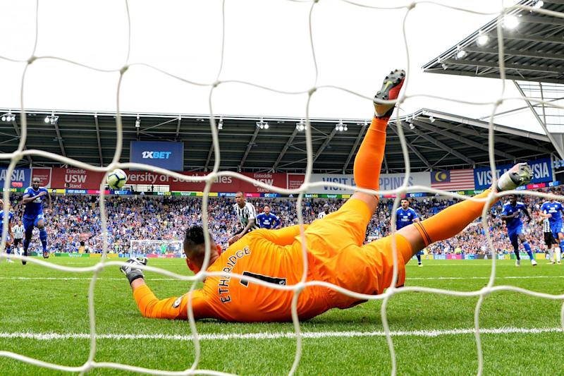 No way through: Etheridge kept Newcastle at bay as the spoils were shared: Getty Images