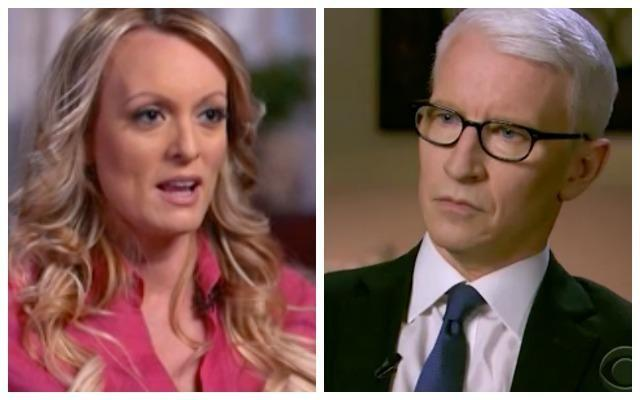 Eagle-eyed viewers compared the size of Stormy's pupils to interviewer Anderson's, noting the difference. Photo: CNN
