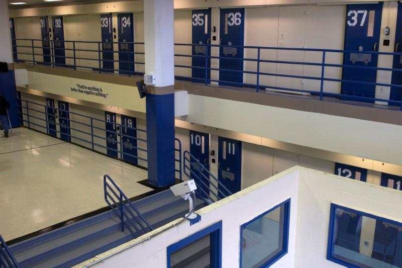 FILE PHOTO: Jail cells are seen in the Enhanced Supervision Housing Unit at the Rikers Island Correctional facility in New York