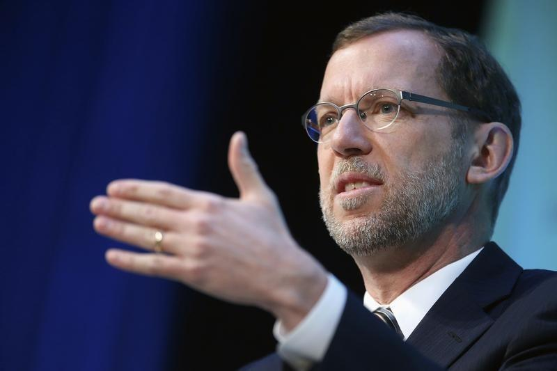 Congressional Budget Office (CBO) Director Douglas Elmendorf addresses The Atlantic's Economy Summit during an onstage interview in Washington