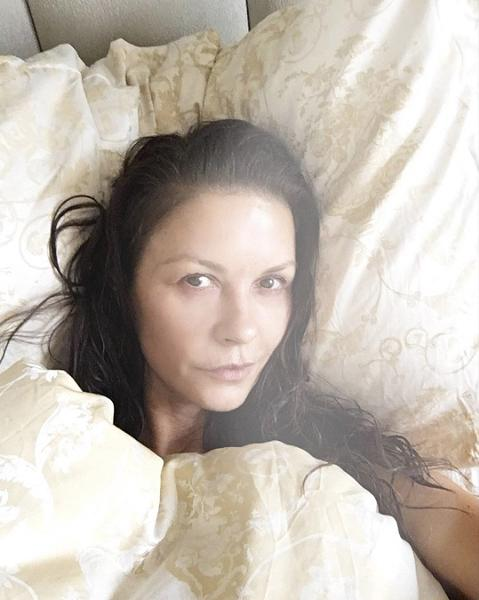 """<p><strong>When: Sept. 2, 2017</strong><br />We're used to seeing Catherine Zeta Jones rocking her signature dark smoky eye and deep-pink lip, but the 47-year-old actress recently gave fans a glimpse of how youthful she looks first thing in the morning.<br />""""Sleeping in @casazetajones! #SelfieSaturday#CasaZetaJones,"""" she captioned in an unedited makeup-free Instagram selfie from her bed.<br />Her fans, of course, adore her unglammed look.<br />""""The most beautiful woman in the world,"""" one fan commented, while another fan gushed over her beauty in a more poetic way: """"You are beautiful. You are like the fresh sea breeze on the shore of a distant island of youth, where only the sound of the waves, the voices of the seagulls and the cheerful voice of your beloved, who fish in the lagoon of dreams!""""<br />(We couldn't have said it better).<br /><em>(Photo: Instagram)</em> </p>"""