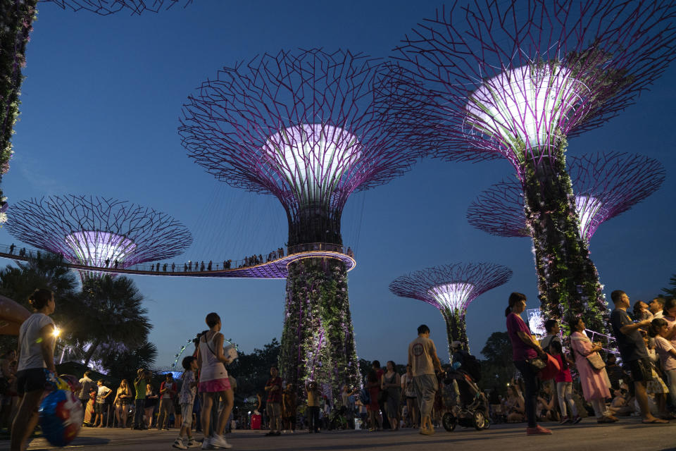 Gardens By The Bay on 3rd June 2018 in Singapore. The Gardens by the Bay is a nature park spanning 101 hectares in the Central Region of Singapore, adjacent to the Marina Reservoir. The park consists of three waterfront gardens: Bay South Garden, Bay East Garden and Bay Central Garden. (photo by Phil Clarke Hill/In Pictures via Getty Images)