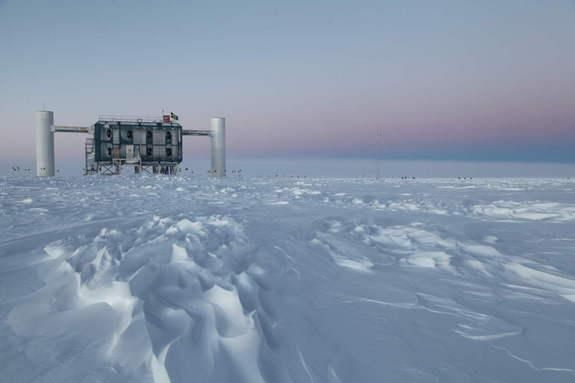 The IceCube Laboratory at the Amundsen-Scott South Pole Station in Antarctica is the world's largest neutrino detector. Its computers collect raw data on neutrino activity from sensors in the ice that look for light emitted when neutrinos strik