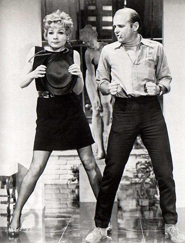 "Photo of Shirley MacLAINE and Bob FOSSE; with Shirley Maclaine on the set of ""Sweet Charity"" (bGAB Archive/Redferns)"