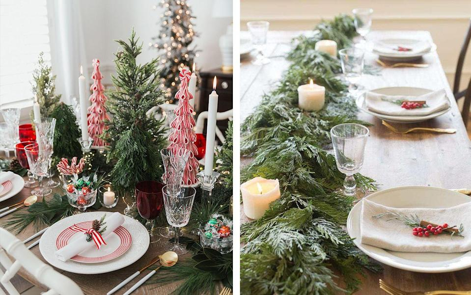 "<p>One of the easiest ways to fill your home with holiday cheer (besides <a href=""https://www.elledecor.com/shopping/g34576509/elle-decor-editors-gift-guide-2020/"" rel=""nofollow noopener"" target=""_blank"" data-ylk=""slk:incredible gifts,"" class=""link rapid-noclick-resp"">incredible gifts,</a> of course) is by adding some<a href=""https://www.elledecor.com/design-decorate/interior-designers/advice/g2833/christmas-decorating-ideas/"" rel=""nofollow noopener"" target=""_blank"" data-ylk=""slk:standout decor"" class=""link rapid-noclick-resp""> standout decor</a> to your space. While a lot of your decorating energy might naturally go toward your <a href=""https://www.elledecor.com/design-decorate/room-ideas/g22728600/christmas-mantel-decorations/"" rel=""nofollow noopener"" target=""_blank"" data-ylk=""slk:fireplace"" class=""link rapid-noclick-resp"">fireplace</a> or your <a href=""https://www.elledecor.com/design-decorate/g2797/christmas-tree-ideas/"" rel=""nofollow noopener"" target=""_blank"" data-ylk=""slk:Christmas tree"" class=""link rapid-noclick-resp"">Christmas tree</a>, a great <a href=""https://www.elledecor.com/life-culture/entertaining/g3308/christmas-table-decorations/"" rel=""nofollow noopener"" target=""_blank"" data-ylk=""slk:tablescape"" class=""link rapid-noclick-resp"">tablescape</a> can have just as much of an impact—especially once dinner rolls around. And at the core of every beautiful tablescape is a showstopping centerpiece.</p><p>So if you want to create a Christmas tableau that will appeal to <em>all</em> of the senses, then feast your eyes on the Christmas centerpiece ideas below. From elegant candles to lush garlands and everything in between, these gorgeous arrangements are sure to rival the main course itself.<br></p>"