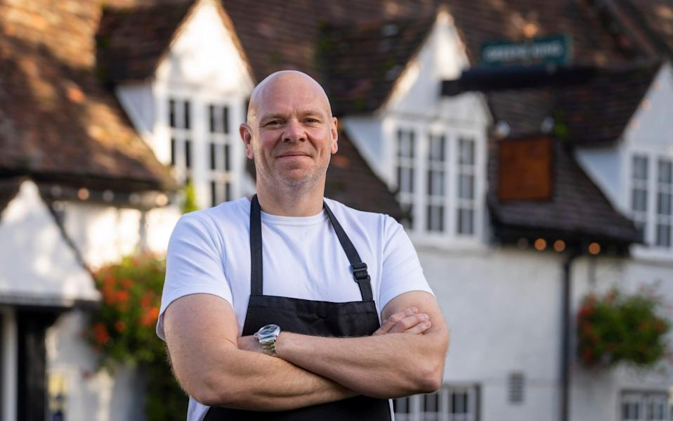Tom Kerridge outside his pub the Hand and Flowers in Marlow - Andrew Crowley/Telegraph