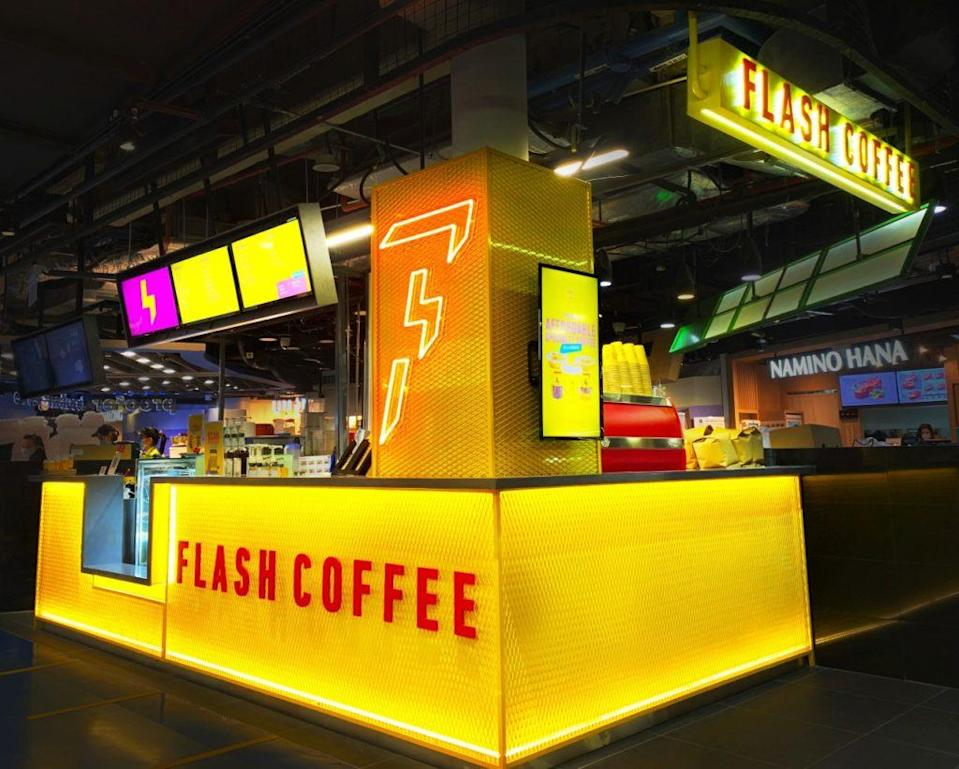 Flash Coffee outlet at One Raffles Place. Photo: Flash Coffee