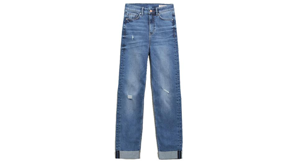 High Waisted Cigarette Jeans