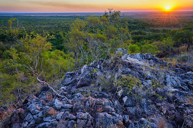 Sunset over Tabletop Range in Litchfield National Park, Northern Territory. Source: Getty