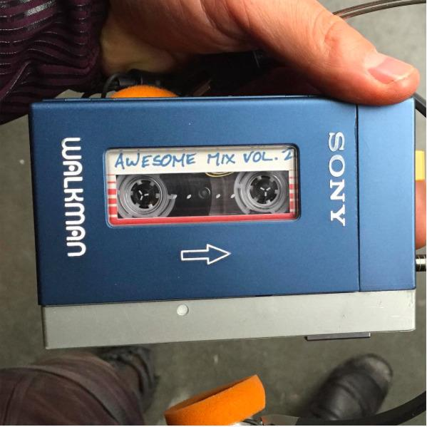 "<p>For the original <i>Guardians</i>, James Gunn gave Chris Pratt a <a href=""http://www.slashfilm.com/original-awesome-mix-guardians-of-the-galaxy/"">customized tape filled with music</a> from the '70s and '80s to get him into the right mood to play Star-Lord, and many of those songs wound up in the actual film. No word yet on what's on this follow-up mix, but it's likely just as old school and excellent. (Photo: <a href=""https://www.instagram.com/p/BBS5tk-DHKN/"">Chris Pratt/Instagram</a>)</p>"