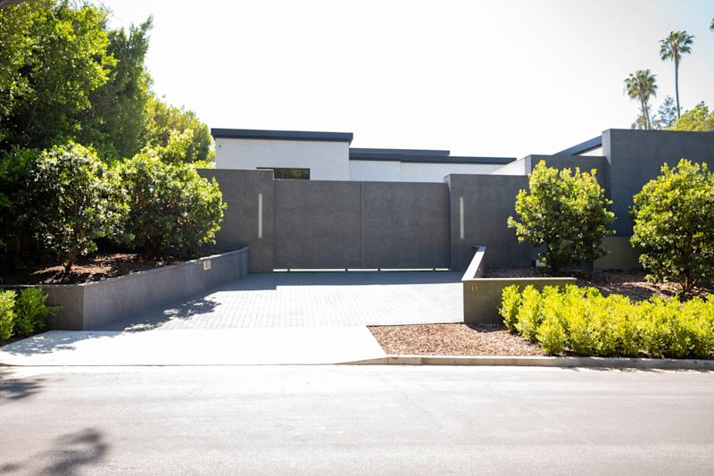 Even the front gate of Kylie Jenner's new home is sleek.
