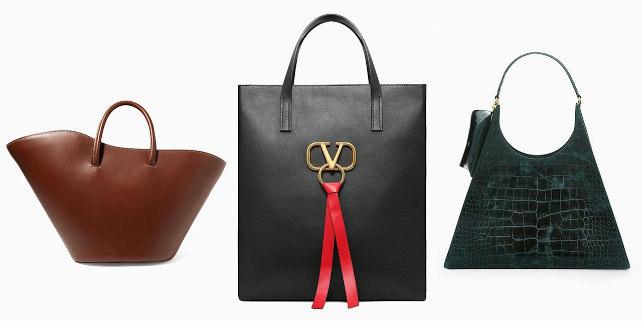 <p>Isn't it time you retire that free bag you got outside of a Whole Foods? Sure, those dingy canvas totes are OK, but when it comes to choosing an office-ready bag, make form meet function. Chic carryalls that can handle your laptop <em>do</em> exist. Upgrade yourself to Valentino's new it-bag, shop an option from H&M that looks way more expensive than it is, and more office-ready bags with our roundup ahead.  <em></em></p>