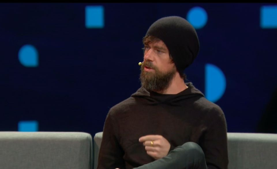 Jack Dorsey speaking at TED2019.