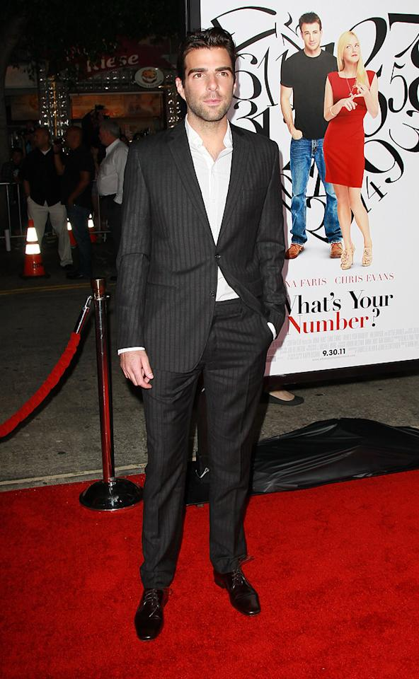 "<a href=""http://movies.yahoo.com/movie/contributor/1808558768"">Zachary Quinto</a> at the Los Angeles premiere of <a href=""http://movies.yahoo.com/movie/1810179802/info"">What's Your Number?</a> on September 19, 2011."