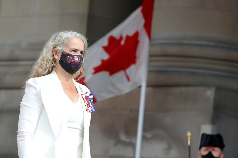 FILE PHOTO: Canada's Governor General Julie Payette arrives to deliver the Throne Speech in Ottawa
