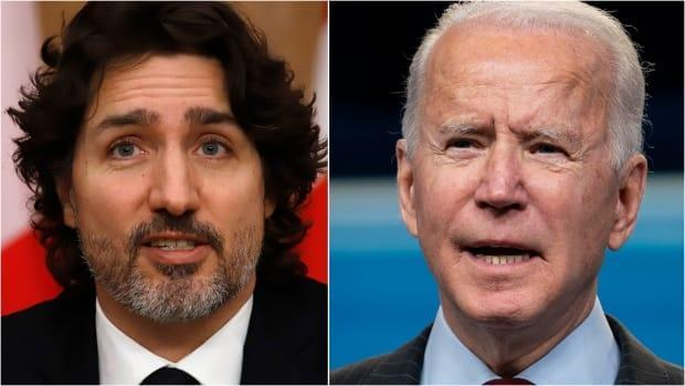 Prime Minister Justin Trudeau and U.S. President Joe Biden held their first, virtual meeting on Tuesday, mapping out a collaborative agenda to tackle COVID-19 and climate change. (The Canadian Press, The Associated Press - image credit)