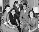 This handout picture provided by the John F. Kennedy Library Foundation shows (L-R) Jean Kennedy, Patricia Kennedy, Robert F. Kennedy, Congressman John F. Kennedy, and Eunice Kennedy during JFK's 1952 Senate Campaign (AFP/Handout)