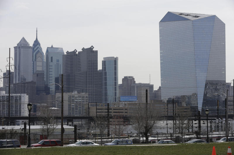 Philadelphia gets ready to play 'Pong' on building