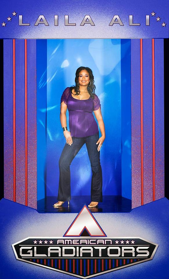 Laila Ali co-hosts American Gladiators.
