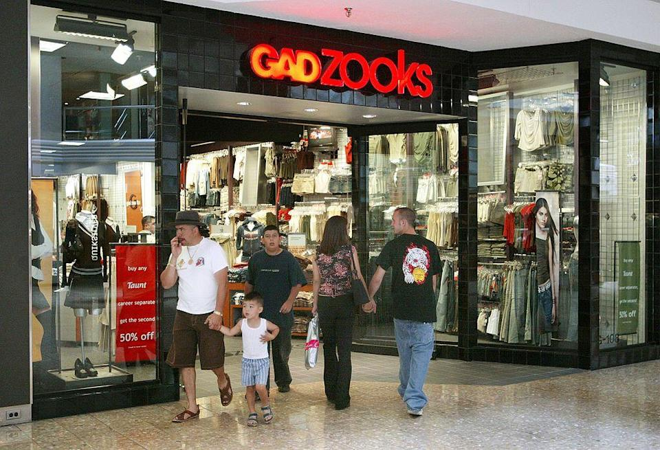 <p>Gadzooks was a T-shirt retailer that originated in Mesquite, Texas and was founded in 1983. The chain grew exponentially to 422 stores and chose to focus more on teenage clothing. Yet, Gadzooks was forced to file for bankruptcy in 2004. On the bright side, the chain was sold to popular clothing brand Forever 21 in 2005 for $33 million. </p>