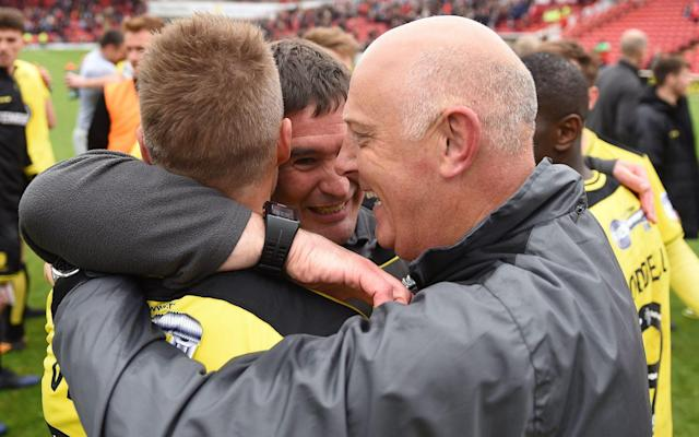 <span>Burton Albion were favourites to be relegated back down to League One</span> <span>Credit: Rex Features </span>