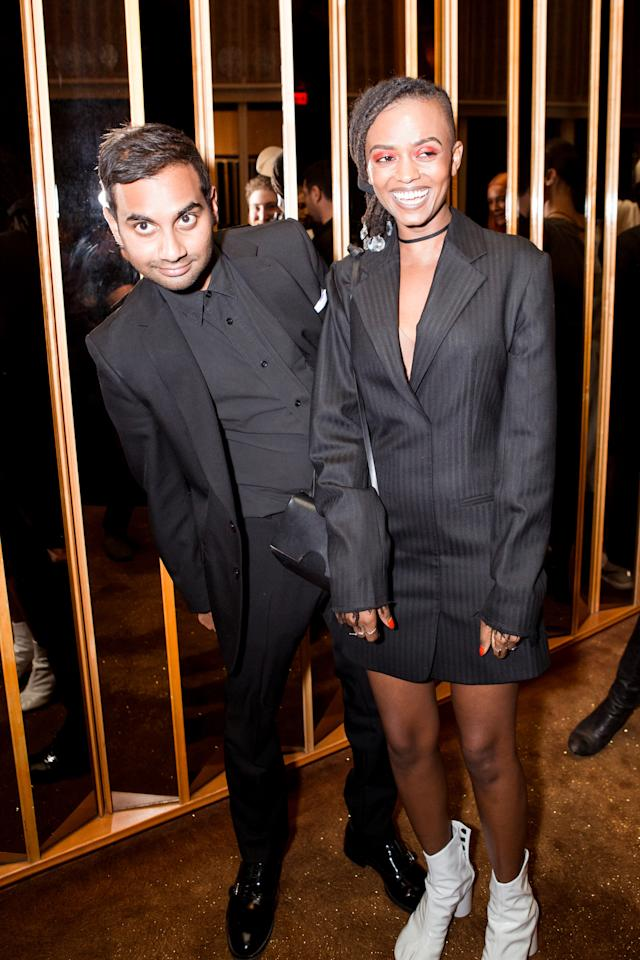 <p>Comedian Aziz Ansari at Purple Magazine's 25th Anniversary on Top of the Standard, New York City, NY. (Photo: BFA) </p>