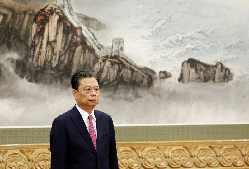 Zhao Leji attends a meeting with media at the Great Hall of the People in Beijing,China October 25, 2017. REUTERS/Jason Lee