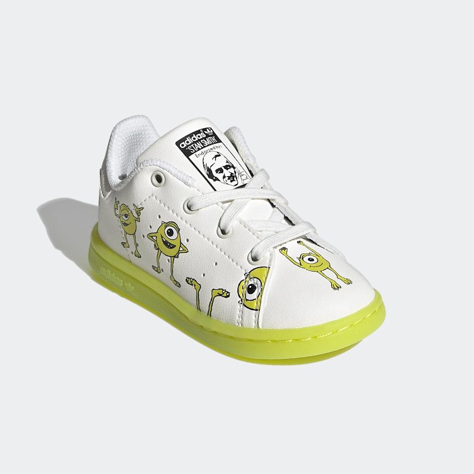 <p><span>Adidas Stan Smith Monster's Inc. Mike Wazowski Shoes For Toddlers</span> ($55)</p>