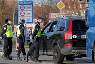French police conduct a control at the French-German border in Strasbourg, France, to check vehicles and verify the identity of travellers after last Friday's series of deadly attacks in Paris , November 16, 2015. REUTERS/Vincent Kessler