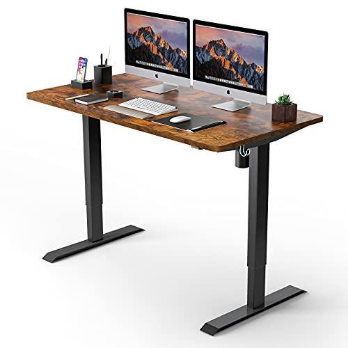 Electric Standing Desk, 48 x 24 inches Whole Piece Deskboard Adjustable Height Desk