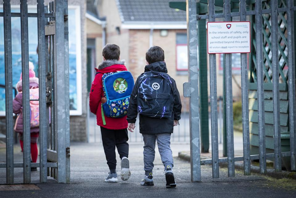 Pupils in P4 to P7 should be able to return to school from March 15 (Jane Barlow/PA)