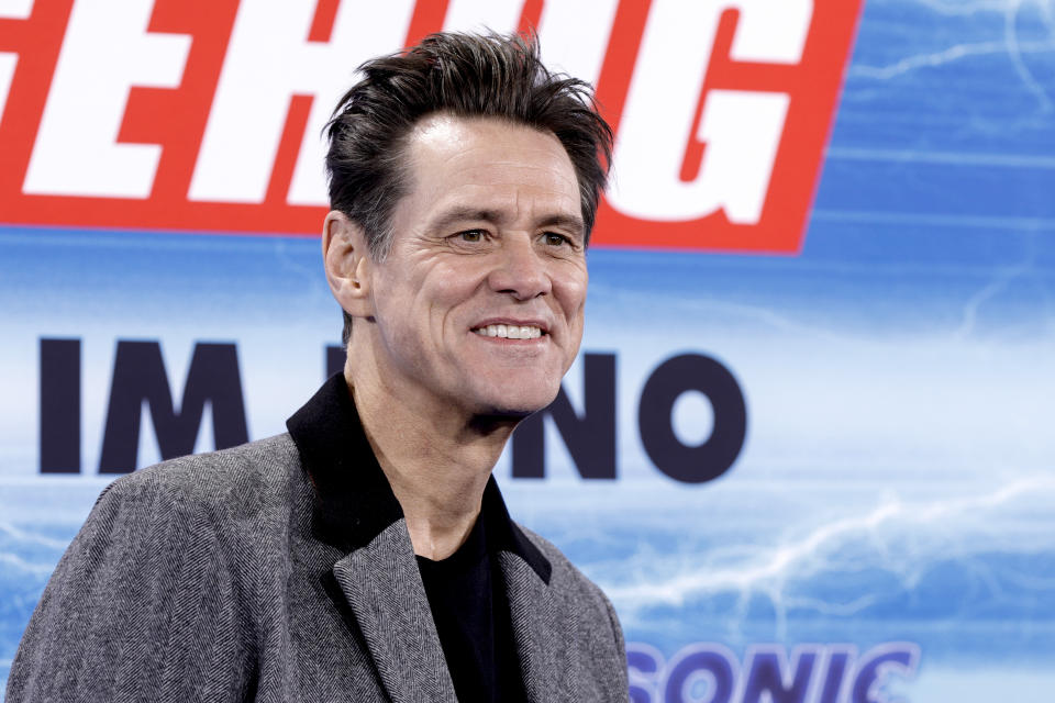 BERLIN, GERMANY - JANUARY 28: US actor Jim Carrey attends the premiere of
