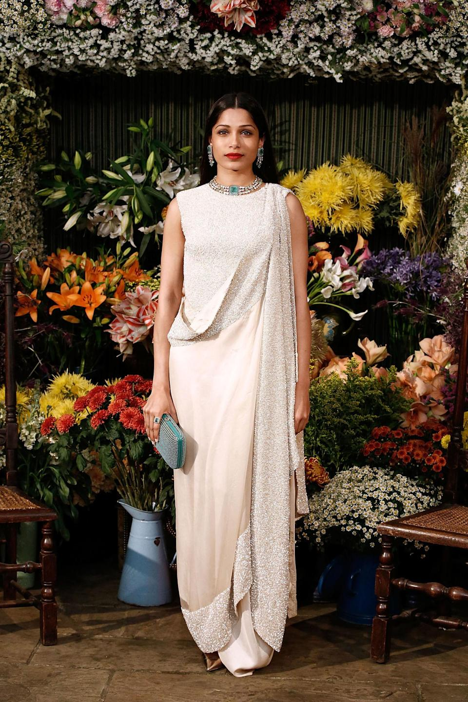 """<p>2008's Oscar-winning<em> Slumdog Millionaire </em>was an over-rated film in all but one respect: it launched the career of Freida Pinto. A darling of fashion magazines ever since, she is also considered in her home country as """"<a href=""""https://www.telegraphindia.com/1111106/jsp/7days/story_14713691.jsp"""" rel=""""nofollow noopener"""" target=""""_blank"""" data-ylk=""""slk:arguably the biggest global star from India"""" class=""""link rapid-noclick-resp"""">arguably the biggest global star from India</a>.""""</p>"""