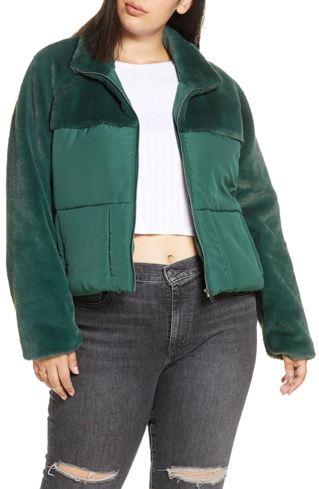 """<p><strong>BP.</strong></p><p>nordstrom.com</p><p><strong>$47.40</strong></p><p><a href=""""https://go.redirectingat.com?id=74968X1596630&url=https%3A%2F%2Fshop.nordstrom.com%2Fs%2Fbp-mixed-media-puffer-coat-plus-size%2F5411642&sref=https%3A%2F%2Fwww.cosmopolitan.com%2Fstyle-beauty%2Ffashion%2Fg30928278%2Fnordstrom-winter-sale-2020%2F"""" target=""""_blank"""">Shop Now</a></p><p>Here's a coat that will make a plain pair of jeans look fancy-schmancy. </p>"""