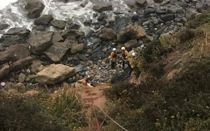 Angela Hernandez is found at the bottom of a cliff in Monterey County, California - REUTERS
