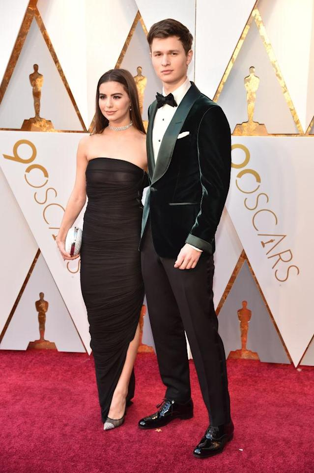 <p>Ansel Elgort (R) and Violetta Komyshan attend the 90th Academy Awards in Hollywood, Calif., March 4, 2018. (Photo: Steve Granitz/WireImage) </p>