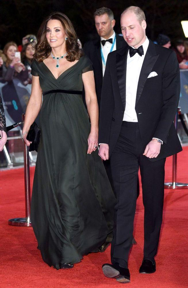 Kate Middleton and Prince William attend the 2018 BAFTAs