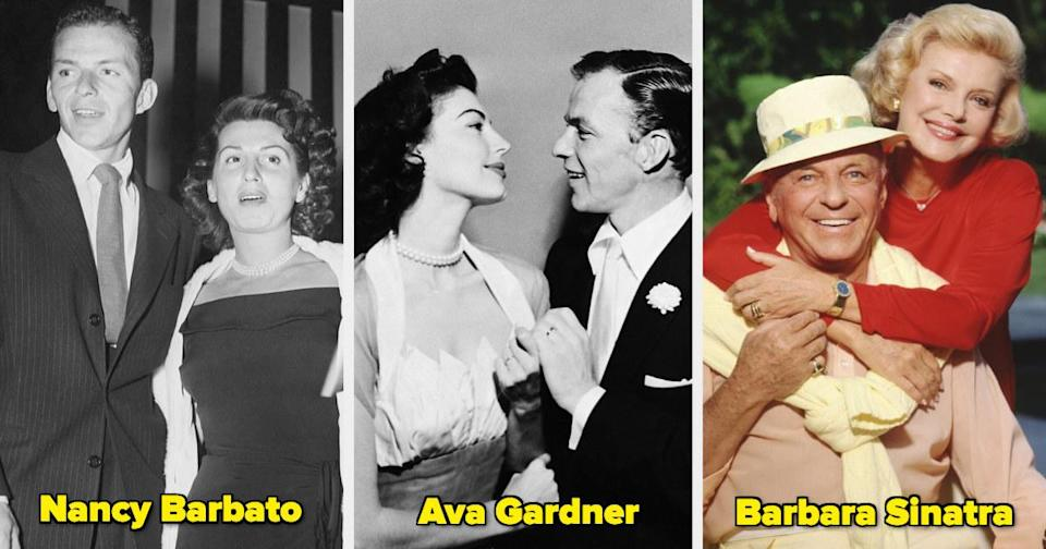 Frank Sinatra with two ex-wives and Barbara
