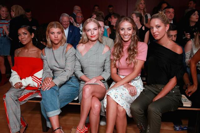 <p>Sofia Richie twinned with Kate Bosworth while sitting front row at the Monse Maison show. Jhene Aiko, Harley Viera-Newton, and Princess Olympia of Greece attended as well. (Photo: Getty Images) </p>